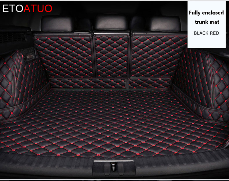 Black Rear Seat Cover Dog Boot Liner For Volvo XC90 V90 All Years Models