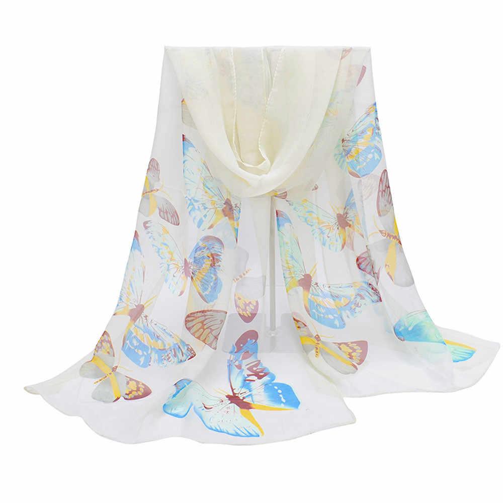 חדש אופנה צעיף גברת פרפר הדפסת צוואר צעיף Scarve חם לעטוף לנשימה WindProof צעיפים צעיפי חיג 'אב מטפחת