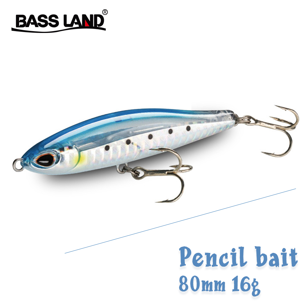 2020 New Pencil Fishing Lures Stickbaits 80mm 16g Pro Pencil Bait Wobbler Hard Trolling Lure Isca Artificial Para Pesca