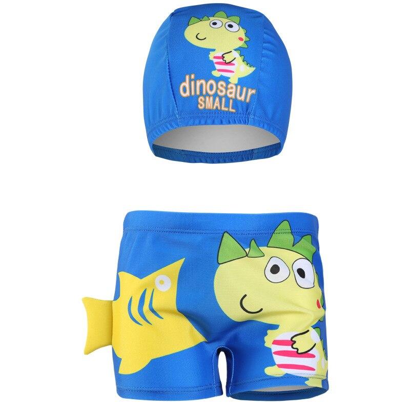 CHILDREN'S Swimming Trunks Boy Children Boxer Swimwear Hooded Infants Baby Cartoon Printed Swimming Equipment