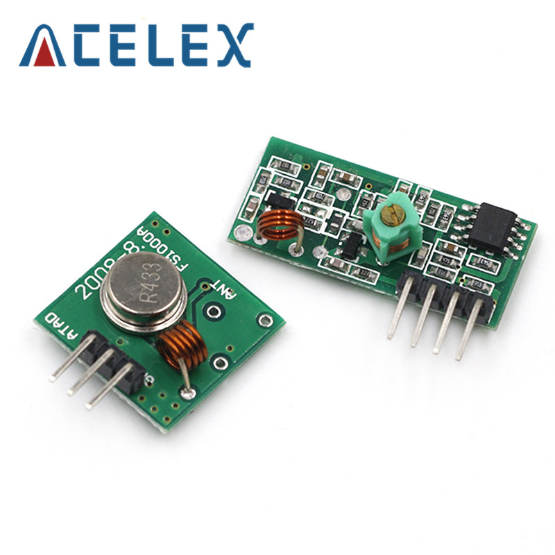 2Pcs 315Mhz Rf Transmitter//Receiver Kit Module For Arduino Arm W Mcu US Stock l
