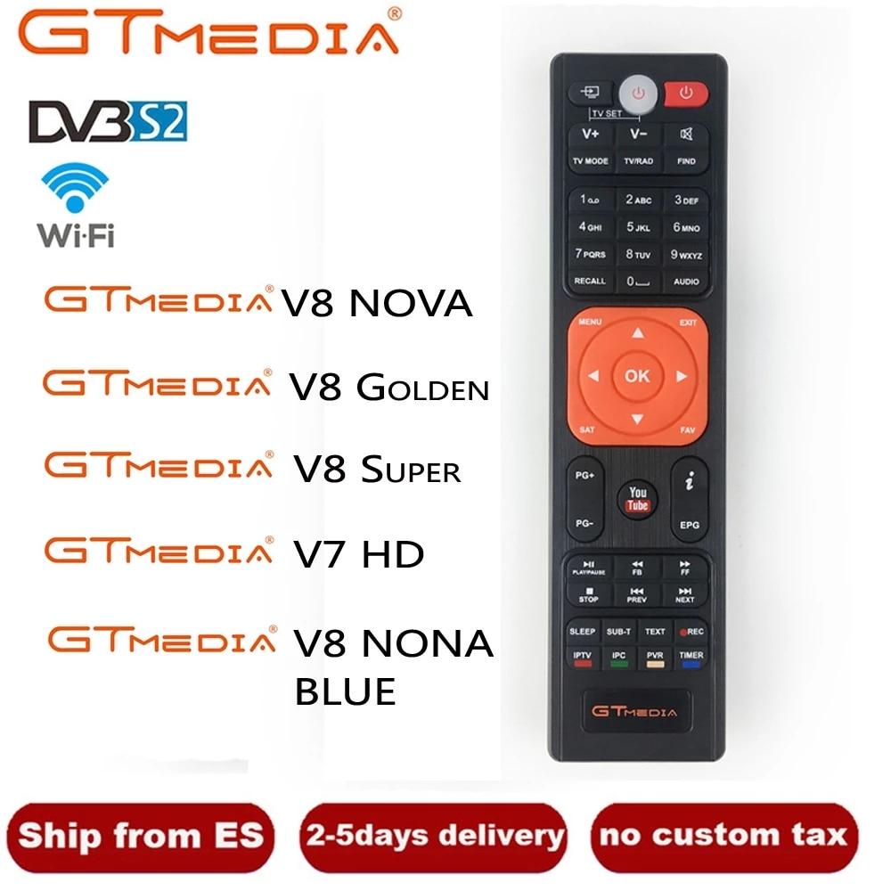 [Подлинный] HD спутниковый ТВ-приемник с дистанционным управлением для Gtmedia v8 nova и freesat V7SHD V8 Golden V8 nova V9 Super V7 HD-рецептор