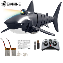 Toys Rc Boat Simulation-Model Electric-Shark Waterproof Eachine with 2/3-Batteries 4CH