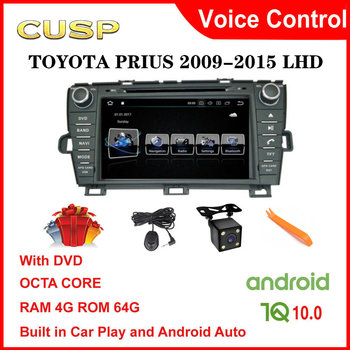 CUSP Android 10.0 Car dvd player for TOYOTA PRIUS 2009 2010-2015 2 Din Car Radio car gps car stereo Multimedia Audio LHD CarPlay image