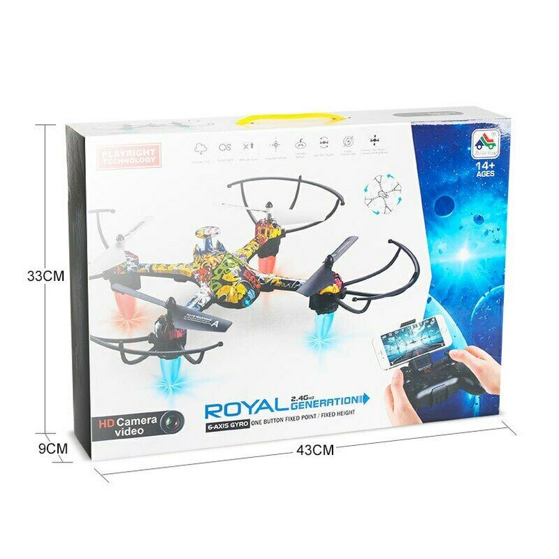 H235 RC Quadcopter Headless Mode 2 4Ghz Gyro Wifi FPV Drone Real Time APP Control Altitude Hold with LED for Kids Toy Gift in RC Helicopters from Toys Hobbies