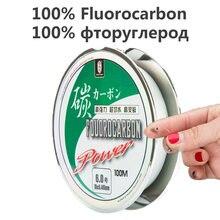100 м 100% фторуглеродная леска из углеродного волокна для ловли