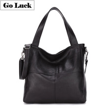 цена на GO-LUCK Brand New Genuine Leather Top-handle Handbag Tote Women Crossbody Shoulder Bag Women's Messenger Bags