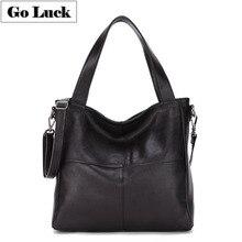 GO-LUCK Brand New Genuine Leather Top-handle Handbag Tote Wo