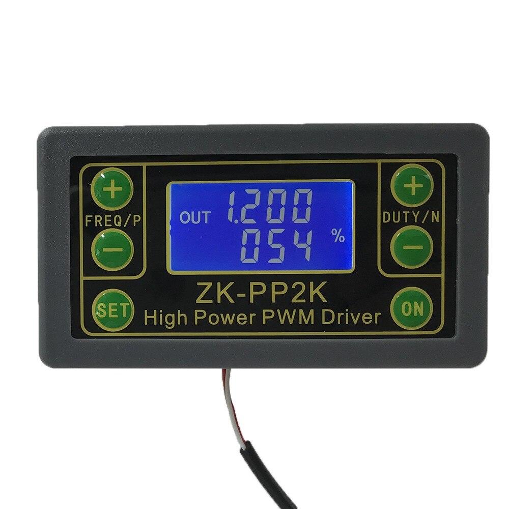 Módulo do motorista do gerador 8a do sinal de ZK-PP2K pwm para o motor/modo duplo da lâmpada módulo ajustável do ciclo do dever da frequência do pulso do lcd pwm