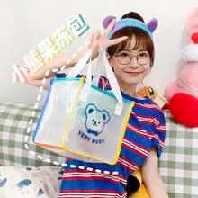 Большая вместительная сумка с медведем корейская мода для девочек