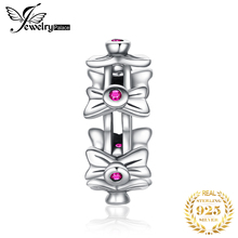 JewelryPalace Bowknot 925 Sterling Silver Beads Charms Original For Bracelet original Jewelry Making