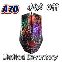 Per sanguinante A70 A90 Mouse da gioco cablato USB da 4000DPI sensore ottico Mouse da gioco con abbagliamento colorato per giocatori professionisti per PC portatile