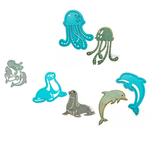 Punch Dolphin-Seal Stencils-Dies Scrapbook Craft Llove Metal Octopus Mold Blade Knife-Mould