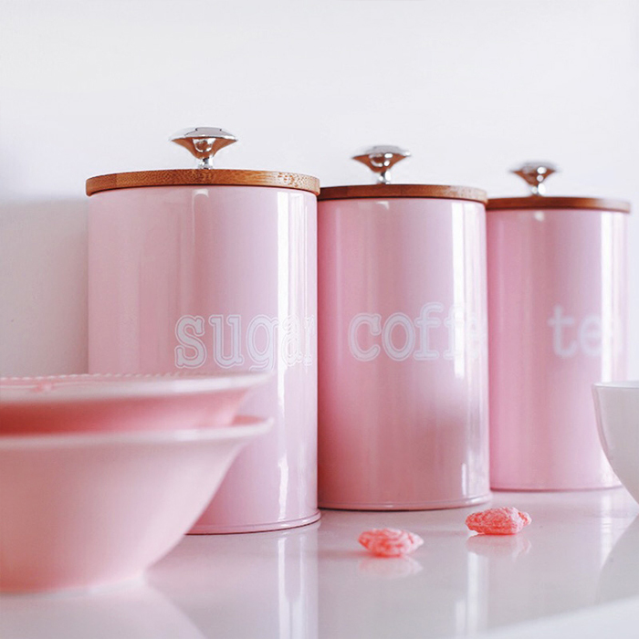 New Storage Tanks Steel Kitchen Utensils Multifunction Color Tea Coffee Sugar Square Box Case Househould Quality Beautiful
