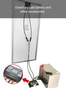 Image 5 - DOKIO 100 واط 18 فولت لوحة طاقة شمسية سوداء الصين خلية/وحدة/نظام/المنزل/قارب 100 واط لوحات شاحن للطاقة الشمسية