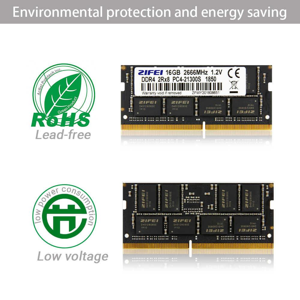 ZIFEI-memoria RAM DDR4 para ordenador portátil, so dimm, SDRAM, 8GB, 4GB, 16GB, 32GB, 2133, 2400, 2666 MHz