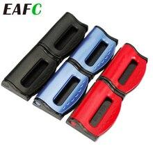 Trava para cinto de assento de carro, 2 peças, clipes de segurança ajustáveis, fivela de plástico, 4 cores, acessórios interiores para carro estilizador