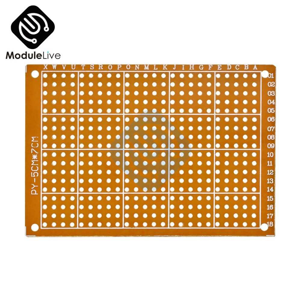 1 pièces 5X7 CM 5X7 CM universel HB feuille de caoutchouc Hick bakélite Joint trou Circuit de carte multi-fonction 5*7cm
