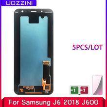 5 sztuk partia 5 6 #8221 super amoled lcd wyświetlacz J6 do Samsung Galaxy J6 2018 J600F J600G wymiana montaż ekranu dotykowego tanie tanio uozzini Pojemnościowy ekran For Samsung Galaxy J6 2018 J600 LCD i ekran dotykowy Digitizer 1280x720 3 Black Bubble bags with foam box
