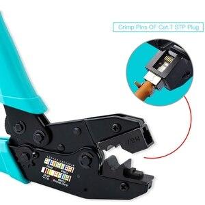 Image 3 - RJ45 כלי Cat7 מלחץ Cat7 מחבר לחיצה כלי כבל מלחץ פלייר עבור Cat7 Cat6A מסוכך מתכת קליפ מחבר