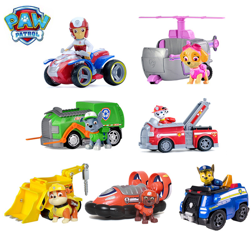 Paw Patrol Dog Patrulha Canina Anime Figure Car Plastic Action Figure Decoration Toys For Children Birthday Christmas Gifts