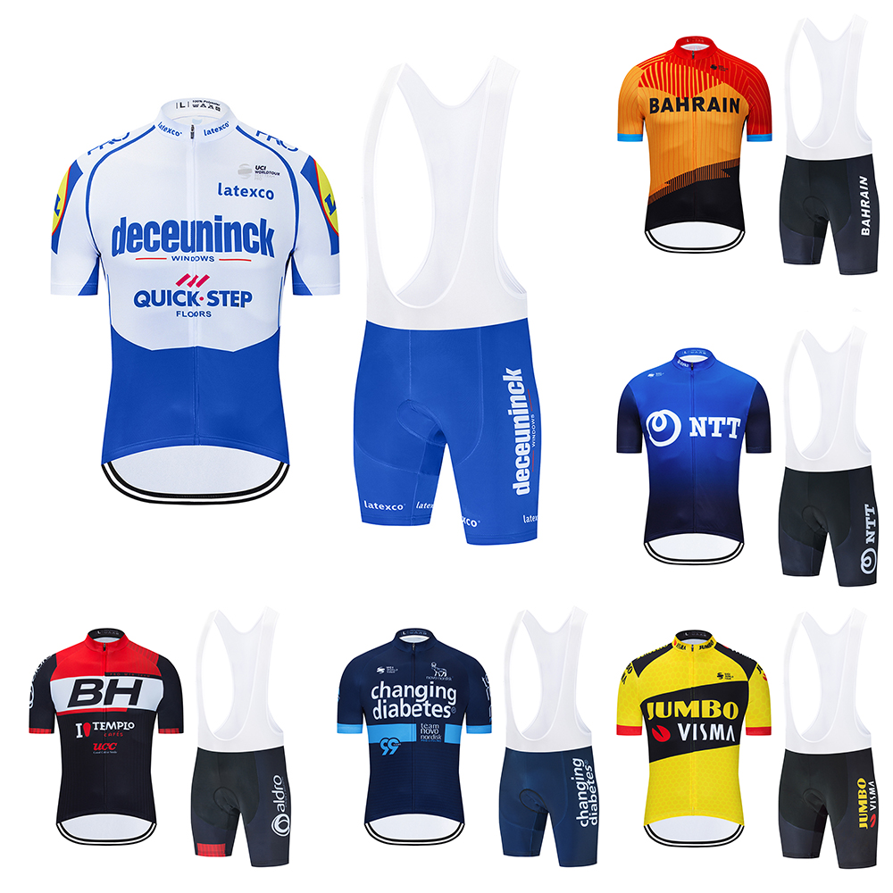 Team 2020 Mens Cycling Jersey Set Summer Mountain Bike Clothing Pro Bicycle Cycling Jersey Sportswear Suit Maillot Ropa Ciclismo
