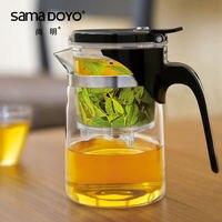 [GRANDNESS] SAMA Samadoyo SAG 08 High Grade Gongfu Teapot & Mug 500ml Elegant Tea Sets Glass Teapot Art Tea Cup Glass Gongfu