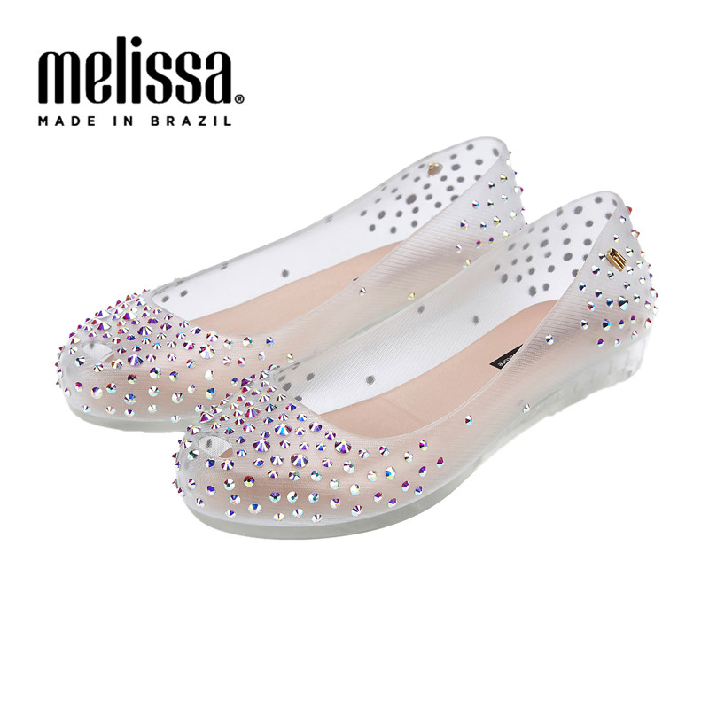 Melissa Women Sweet 2020 New Melissa Jelly Shoes Diamond Jelly Slippers Ladies Sandals Melissa Adult Slippers Women Beach Shoes