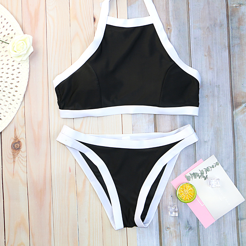 >2020 new girls bikinis set bikini swimwear woman swimsuit solid <font><b>print</b></font> low waist thong on sale wholesale black <font><b>white</b></font> darck <font><b>blue</b></font>
