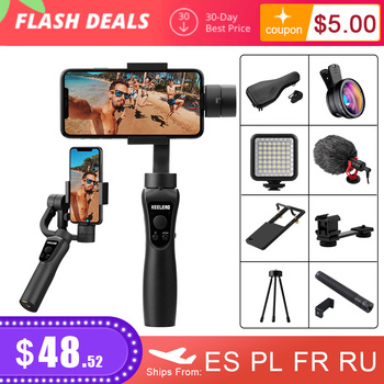 KEELEAD 3 Axis Handheld Gimbal Stabilizer for Smartphone Action camera Video Record tik Youtube tiktok tok Vlog Live