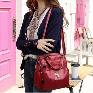 Image 2 - Multifunction Vintage Women Backpacks High Quality Female Back Pack Ladies Shoulder Bag Ladies Leather Travel Backpack Mochilas