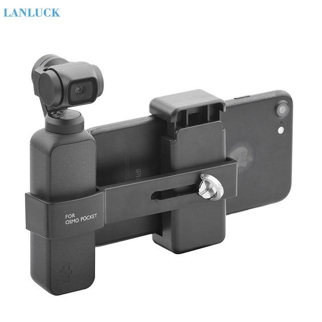 Dji osmoポケット2カメラ電話マウントクリップハンドヘルドジン電話用dji osmoポケットアクセサリー