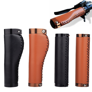 Кожаный чехол для велосипедного руля MTB, крышка для руля, общий амортизатор, ручка, замок, горный складной чехол