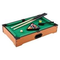 13.8 Inch Mini Tabletop Pool Billiards Game Set Includes Game Balls,Sticks,Chalk, Brush and Tripod