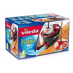 Vileda Turbo easyw Bague & Clean Kit complet, tête de rechange Balai serpillere avec seau et essoreuse Power Plus 6 x Turbo