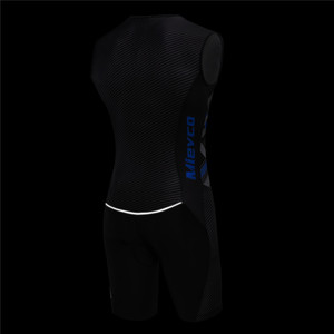 Image 3 - Triathlon Cycling Jersey Sleeveless Cycling Clothing Man Skin Suit Bike Jersey Set Triathlon Suit For Swimming Running Riding