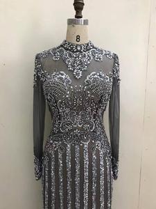 Image 5 - 2020 new evening dress banquet noble gray high end queen aura host mermaid dress