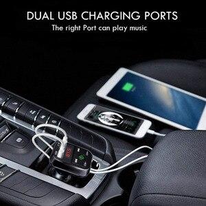 Image 5 - Rovtop דיבורית אלחוטי Bluetooth לרכב משדר FM TF כרטיס LCD MP3 נגן USB 2.1A רכב מטען טלפון מטען z2