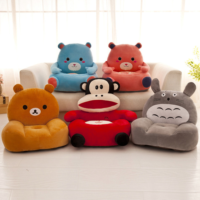 Baby Chair Toddler Nest Puff Seat Children Seat Sofa Washable Only Cover No Filling Kids Bean Bag Cartoon Bear Skin Upscale 3