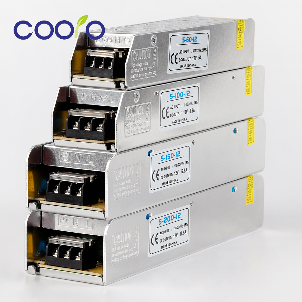 Ultra-narrow Width LED Driver Switching Power Supply AC220V DC12V 60W 100W 150W LED Power Adapter Transformer For LED Strip