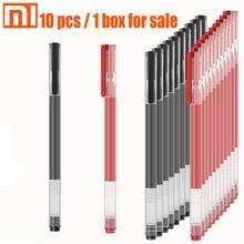 Originale xiaomi penna 10 pcs / 1 scatola nera e rossa di scrittura liscia ufficio studente penna insegnante medico mi penna giapponese di inchiostro/0.5 millimetri