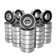 60Pcs/Set 608 2RS Ball Bearing ABEC-5 8X22X7 mm Deep Groove Carbon Steel Sealed Ball Bearings