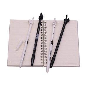 Image 2 - Черная ручка с наконечником для письма, 0,5 мм, 50 шт., гелевая чернильная ручка с котом, ручка для учеников, школы, офиса, длина 170 мм, внешняя ручка с котом