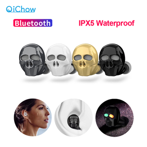 2020 New Skull Bone Bluetooth Earphone with Microphone Noise Cancelling Hi-Fi Handsfree Bass Stereo Mini Micro Earbud Earpiece(China)