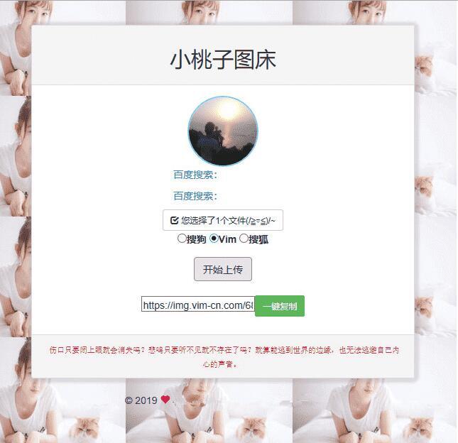 聚合图床源码下载,支持新浪搜狗搜狐Vim图(无后门)