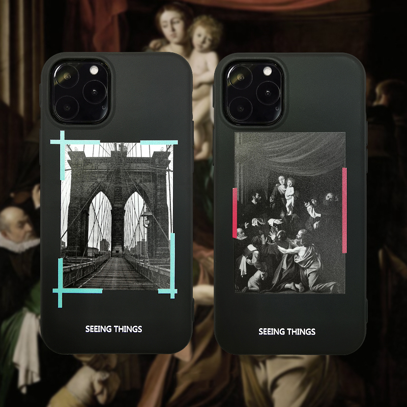 Classic White Famous Fashion off Tide Phone Case for iphone 12 11 Pro 6 7 8 plus X XR XS MAX OW oil Brooklyn Bridge cover coque