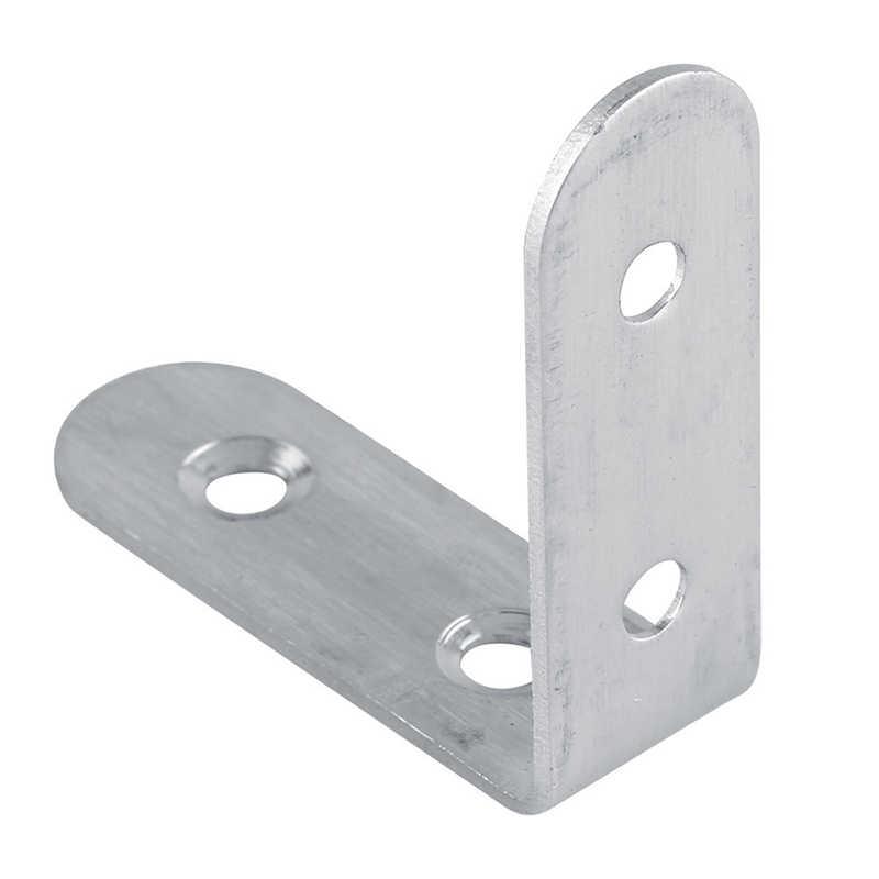 10 Buah Sudut Bracket Sendi Rak L Bentuk Stainless Steel Konektor Berguna