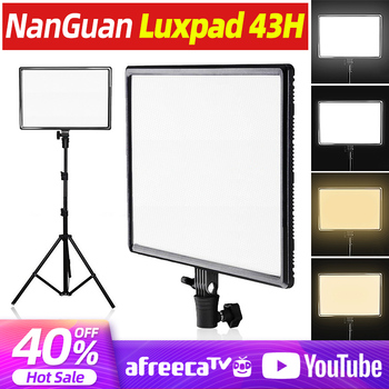 Luxpad43h DSLR Camera LED Light Dimmable Lighting Panel CRI95 Bi-Color 3200-5600K Photographic Video Light with AC Power Adapter цена 2017