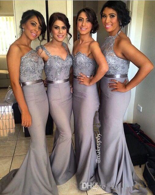 Elegant 2019 Cheap   Bridesmaid     Dresses   Under 50 Mermaid Sweetheart Appliques Beaded Long Wedding Party   Dresses   For Women