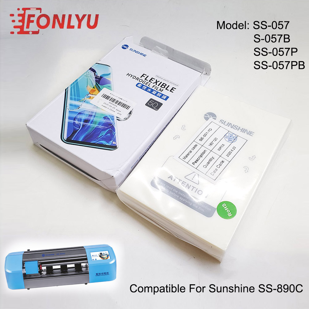 Sunshine SS-057 Flexible hydrogel film compatible for SS-890C machine cutting Front Rear Glass film